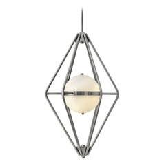 Frederick Ramond Spectra Pewter Pendant Light with Globe Shade