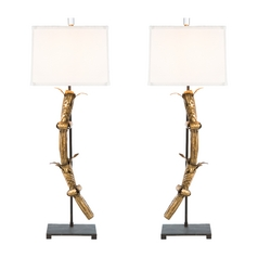 Aidan Gray Home Gold Table Lamp Set