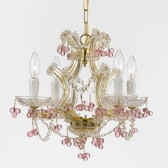 Crystorama Hot Deal 4-Light Crystal Chandelier in Gold