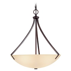 Capital Lighting Stanton Burnished Bronze Pendant Light with Bowl / Dome Shade