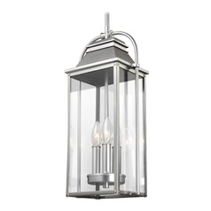 Feiss Lighting Wellsworth Painted Brushed Steel Outdoor Hanging Light