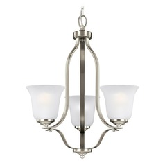 Sea Gull Lighting Emmons Brushed Nickel Mini-Chandelier