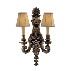 Old World Sconce Wall Light in Brass Finish - Shades Not Included