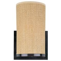 Modern Sconce Wall Light with Brown Tones Shade in Oil Rubbed Bronze Finish
