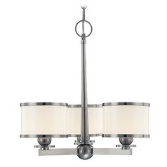 Modern Transitional Mini-Chandelier Polished Nickel Basking Ridge by Hudson Valley