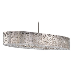 Modern LED Island Light in Chrome Finish