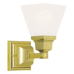 Livex Lighting Mission Polished Brass Sconce