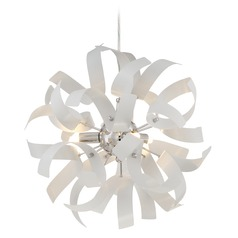 Quoizel Ribbons White Lustre Mini-Pendant Light