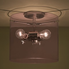 Besa Lighting Pahu Satin Nickel Semi-Flushmount Light