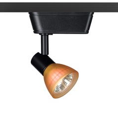 WAC Lighting Black Track Light with Amber Shade L-Track 3000K 450LM