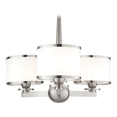 Modern Transitional Mini-Chandelier Satin Nickel Basking Ridge by Hudson Valley