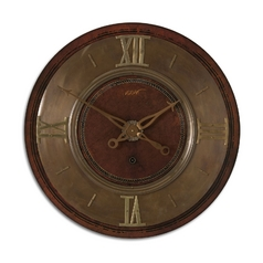 Clock in Mahogany Finish