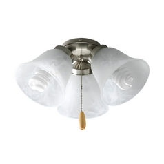 Progress Light Kit with Alabaster Glass in Brushed Nickel Finish