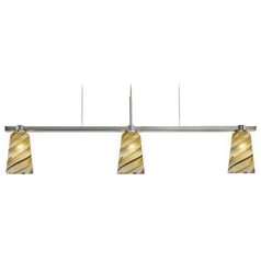 Oggetti Lighting Carnivale Satin Nickel Island Light with Cylindrical Shade