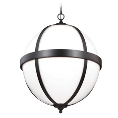 Feiss Lighting Amato Oil Rubbed Bronze Pendant Light with Globe Shade