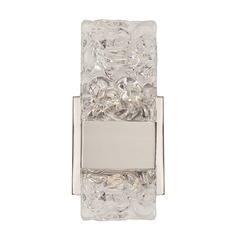 Modern Platinum LED Sconce with Ice Clear Shade 3000K 283LM