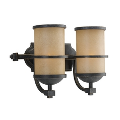 Nautical Style Bathroom Light in Bronze with Two Lights