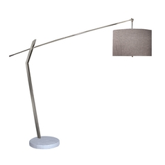 Trend Lighting Modern Arc Floor Lamp with Grey Drum Shade TFA9900