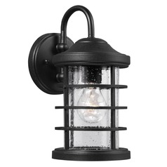 Sea Gull Lighting Sauganash Black Outdoor Wall Light