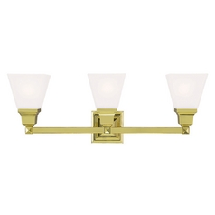 Livex Lighting Mission Polished Brass Bathroom Light