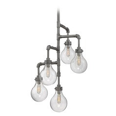 Savoy House Lighting Dansk Galvanized Metal Mini-Chandelier