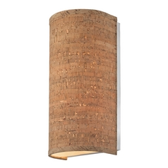 Cork Wall Sconce with Cylinder Shade