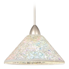 Wac Lighting Artisan Collection Chrome LED Mini-Pendant with Coolie Shade
