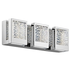 Elan Lighting Pandora Chrome LED Bathroom Light