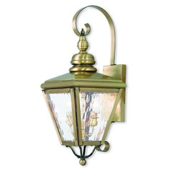 Livex Lighting Cambridge Antique Brass Outdoor Wall Light