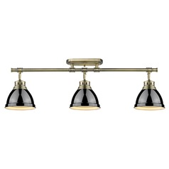 Aged Brass Directional Light Black Shades by Golden Lighting