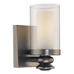 Sconce with Clear Glass in Harvard Ct. Bronze Finish