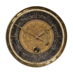 Uttermost Lighting Clock in Brass Finish 06005