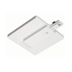 Juno Trac-Lites White End Feed Connector and Outlet Box Cover