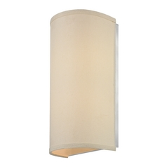 Sconce Light with Beige Fabric Shade