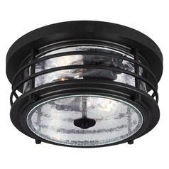 Sea Gull Lighting Sauganash Black Close To Ceiling Light