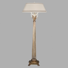 Fine Art Lamps Crystal Laurel Gold Leaf Floor Lamp with Empire Shade