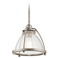 Kichler Lighting Silberne Classic Pewter Pendant Light with Bowl / Dome Shade
