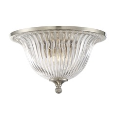 Savoy House Lighting Aberdeen Satin Nickel Flushmount Light