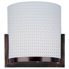 Modern Sconce Wall Light with White Shades in Oil Rubbed Bronze Finish
