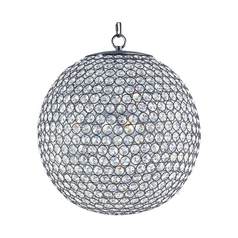 Maxim Lighting Glimmer Bronze Pendant Light with Globe Shade