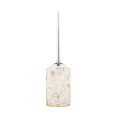Design Classics Lighting Mini-Pendant Light with Mosaic Glass Glass 581-26 GL1026C