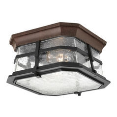 Close To Ceiling Light with Clear Glass in Espresso Finish