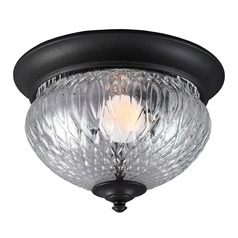 Sea Gull Lighting Garfield Park Black Close To Ceiling Light