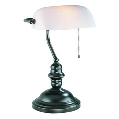Lite Source Lighting Banker Dark Bronze Piano / Banker Lamp