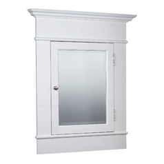 Design Classics Large White Recessed Medicine Cabinet with Beveled Mirror MC-041 W