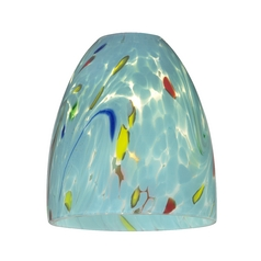 Turquoise Art Glass Shade - Lipless with 1-5/8-Inch Fitter Opening