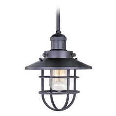 Maxim Lighting Mini Hi-Bay Bronze Mini-Pendant Light with Coolie Shade