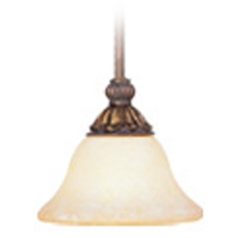 Livex Lighting Sovereign Crackled Greek Bronze with Aged Gold Accents Mini-Pendant Light with Bowl /