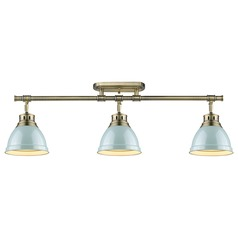 Golden Lighting Duncan Ab Aged Brass Track Light Kit