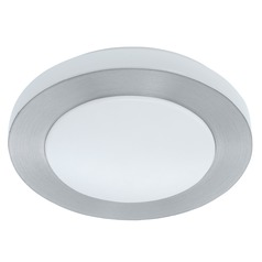 Eglo Carpi 1 Brushed Aluminum LED Flushmount Light